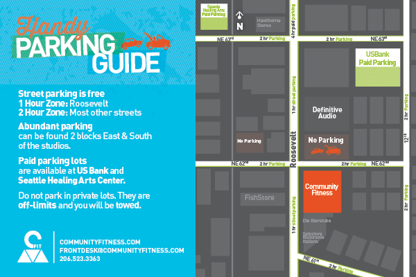 Tips and a map for parking near Community Fitness Roosevelt