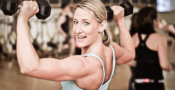 Susan Cotter is a BodyPump instructor at Community Fitness