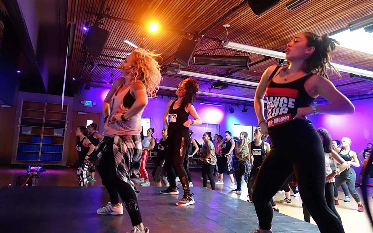 International Dance Fitness Star Medora created her signature format Dance Club at Community Fitness in Seattle